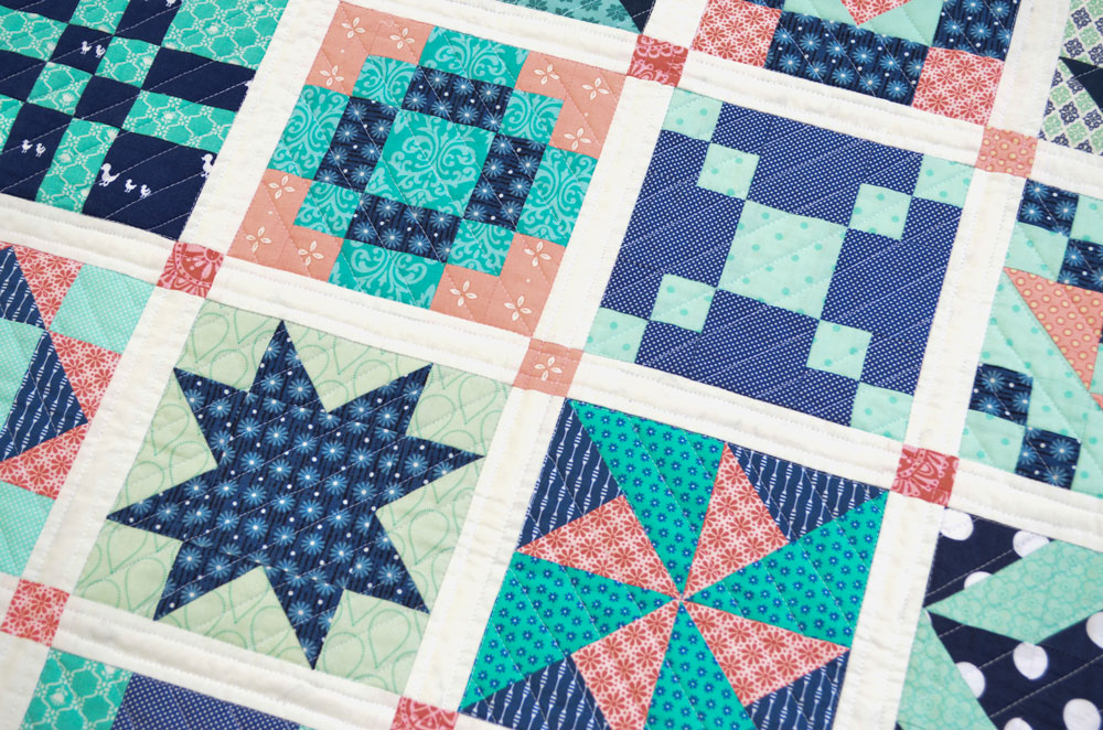 Six Inch Sampler Quilt & Free Project – She Quilts Alot : sampler quilt pattern - Adamdwight.com