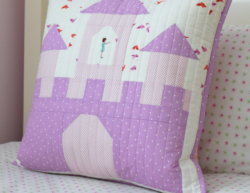FQS Sew Solids Castle Pillow