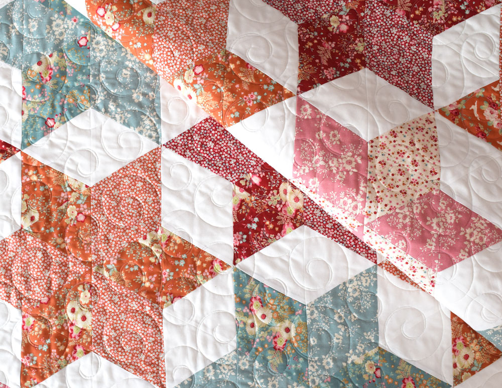 Tilda Triangle Quilt She Quilts A Lot