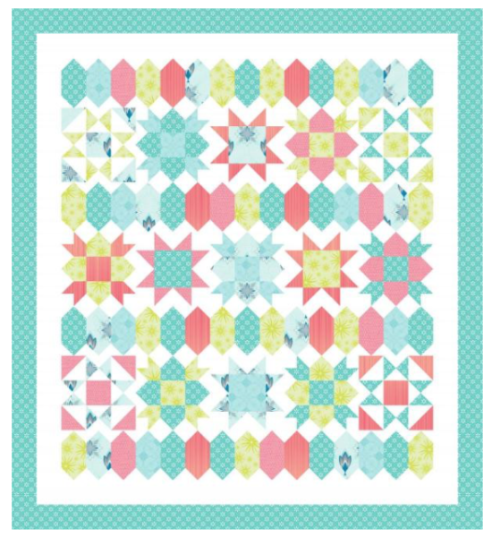 She Quilts A Lot Sweet Stars Design on Pattern Jam